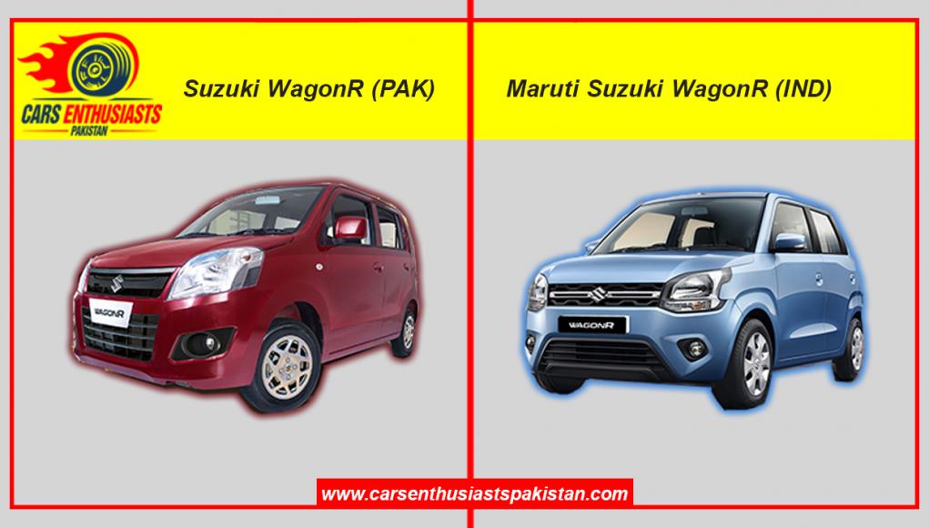Pak Suzuki WagonR (PAK) vs Maruti Suzuki WagonR (IND)